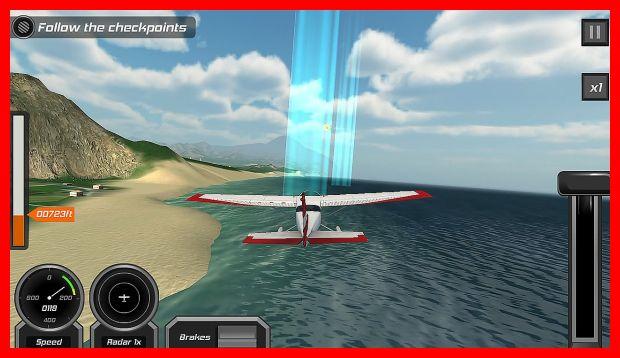 game simulasi pesawat terbaik android Flight Pilot Simulator 3D Free