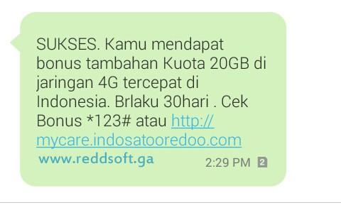 Trik Kuota gratis Im3 Indosat Ooredoo