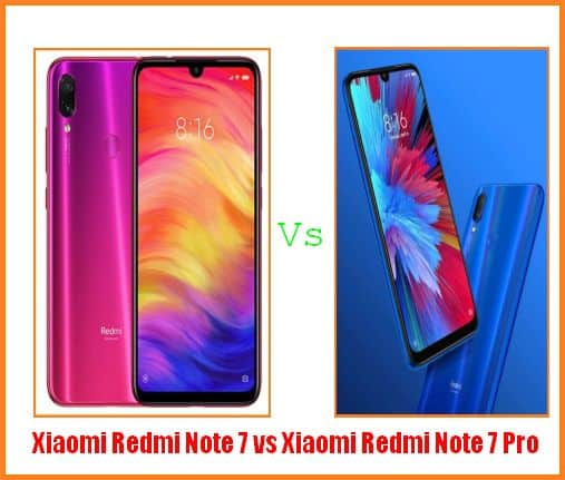 Perbandingan Xiaomi Redmi Note 7 vs Xiaomi Redmi Note 7 Pro