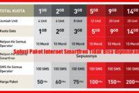 paket internet smartfren tidak bisa digunakan